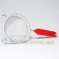 Дуршлаг Харьков маленький красная ручка