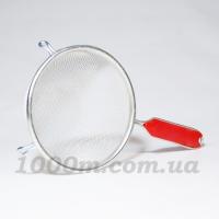 Дуршлаг Харьков средний красная ручка