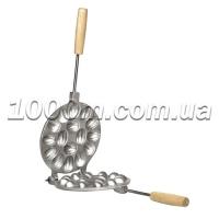 Форма для выпечки печенья орешки 16 шт с деревянной ручкой