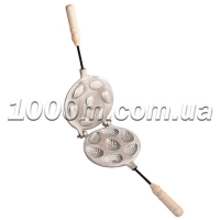 Форма для выпечки печенья шишки с деревянной ручкой