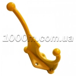 Крючки для одежды желтого цвета