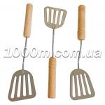 Лопатка металлическая с деревянными ручками