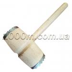 Молоток отбивной деревянный с металлическими наконечниками