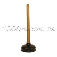 Вантуз с деревянной ручкой большой