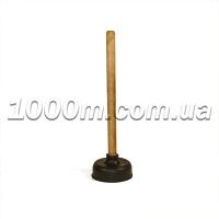 Вантуз с деревянной ручкой маленький